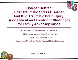 Combat Related Post Traumatic Stress Disorder  And Mild Traumatic Brain Injury:  Assessment and Treatment Challenges for