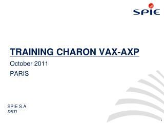 TRAINING CHARON VAX-AXP
