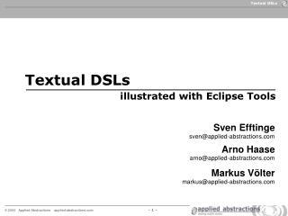 Textual DSLs