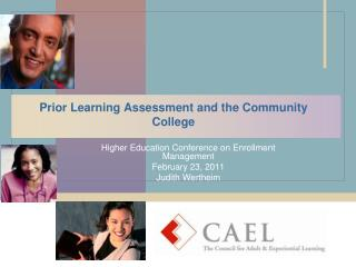 Prior Learning Assessment and the Community College