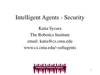 Intelligent Agents - Security