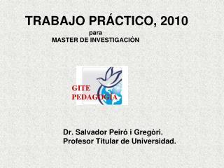 TRABAJO PRÁCTICO, 2010