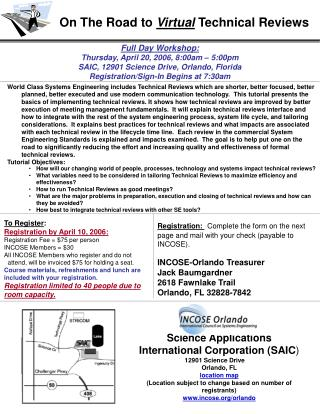 Full Day Workshop: Thursday, April 20, 2006, 8:00am – 5:00pm