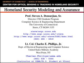 Homeland Security Modeling and Assurance