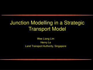 Junction Modelling in a Strategic Transport Model