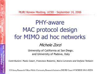 MURI Review Meeting, UCSD - September 14, 2006
