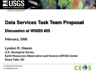 Data Services Task Team Proposal Discussion at WGISS #25