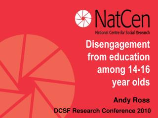 Disengagement from education among 14-16 year olds