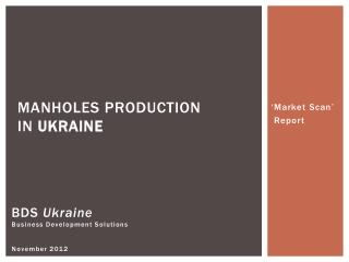 BDS  Ukraine Business Development Solutions November 2012
