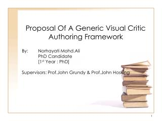 Proposal Of A Generic Visual Critic Authoring Framework