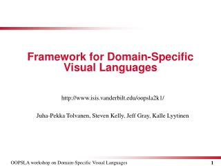 Framework for  Domain - Specific Visual Languages
