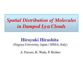 Spatial Distribution of Molecules in Damped Ly a  Clouds