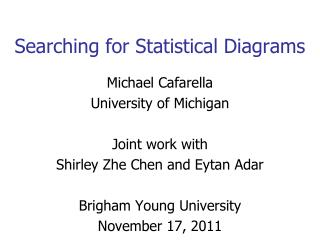 Searching for Statistical Diagrams