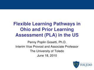 Flexible Learning Pathways in Ohio and Prior Learning Assessment (PLA) in the US