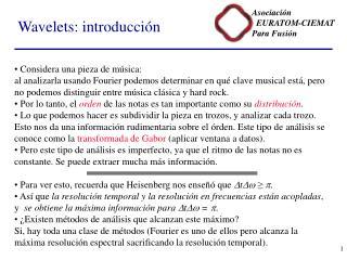 Wavelets: introducción