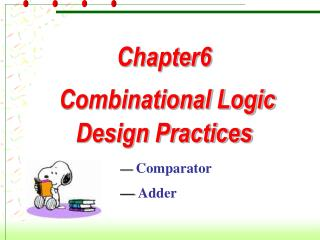 Chapter6    Combinational Logic Design Practices