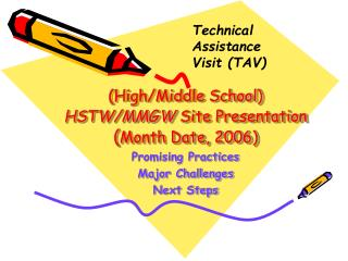 (High/Middle School) HSTW/MMGW  Site Presentation ( Month Date, 2006)