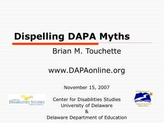 Dispelling DAPA Myths