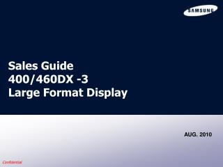 Sales Guide  400/460DX -3  Large Format Display