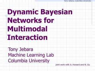 Dynamic Bayesian Networks for Multimodal Interaction