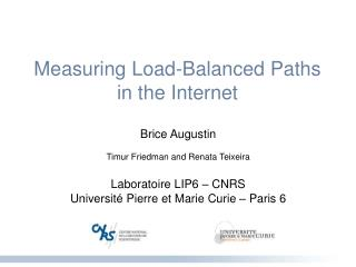Measuring Load-Balanced Paths in the Internet