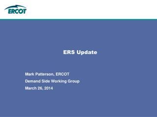 ERS Update