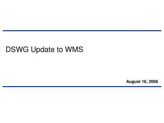 DSWG Update to WMS