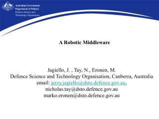 A Robotic Middleware
