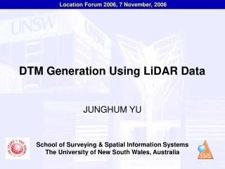 DTM Generation Using LiDAR Data