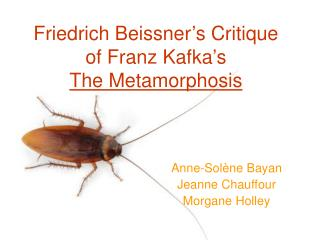 Friedrich Beissner's Critique  of Franz Kafka's  The Metamorphosis