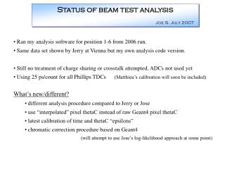 Ran my analysis software for position 1-6 from 2006 run.