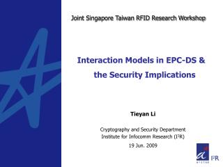 Interaction Models in EPC-DS & the Security Implications