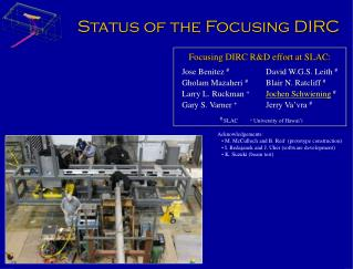 Status of the Focusing DIRC