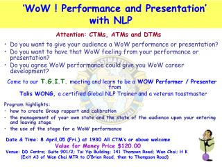 ' WoW ! Performance and Presentation'  with NLP