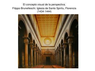El concepto visual de la perspectiva.