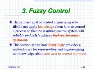 3. Fuzzy Control