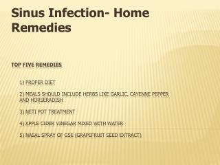 Sinus Infection- Home Remedies