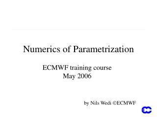 Numerics of Parametrization