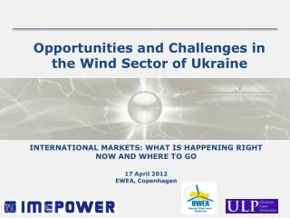Opportunities and Challenges in the Wind Sector of Ukraine