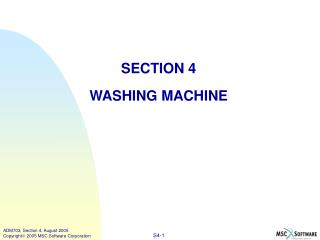 SECTION 4 WASHING MACHINE