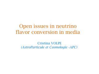 Cristina VOLPE (AstroParticule et Cosmologie -APC)
