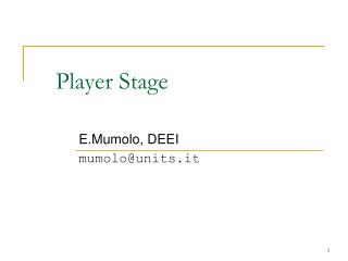 Player Stage