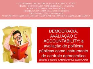 UNIVERSIDADE DO ESTADO DE SANTA CATARINA – UDESC. CENTRO DE CIÊNCIA DA ADMINISTRAÇÃO – CCA/ESAG.