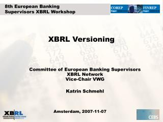 XBRL Versioning