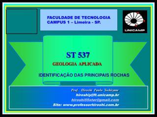ST 537 GEOLOGIA  APLICADA