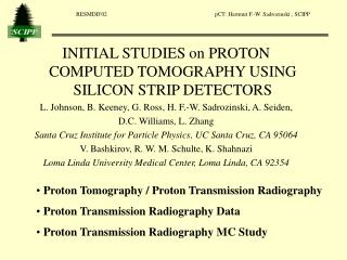 INITIAL STUDIES on PROTON COMPUTED TOMOGRAPHY USING  SILICON STRIP DETECTORS