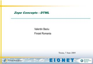 Zope Concepts - DTML