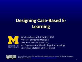 Designing Case-Based E-Learning