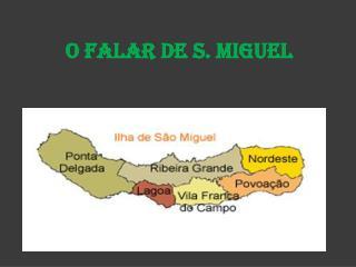 O Falar de S. Miguel