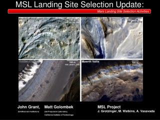 MSL Landing Site Selection Update: